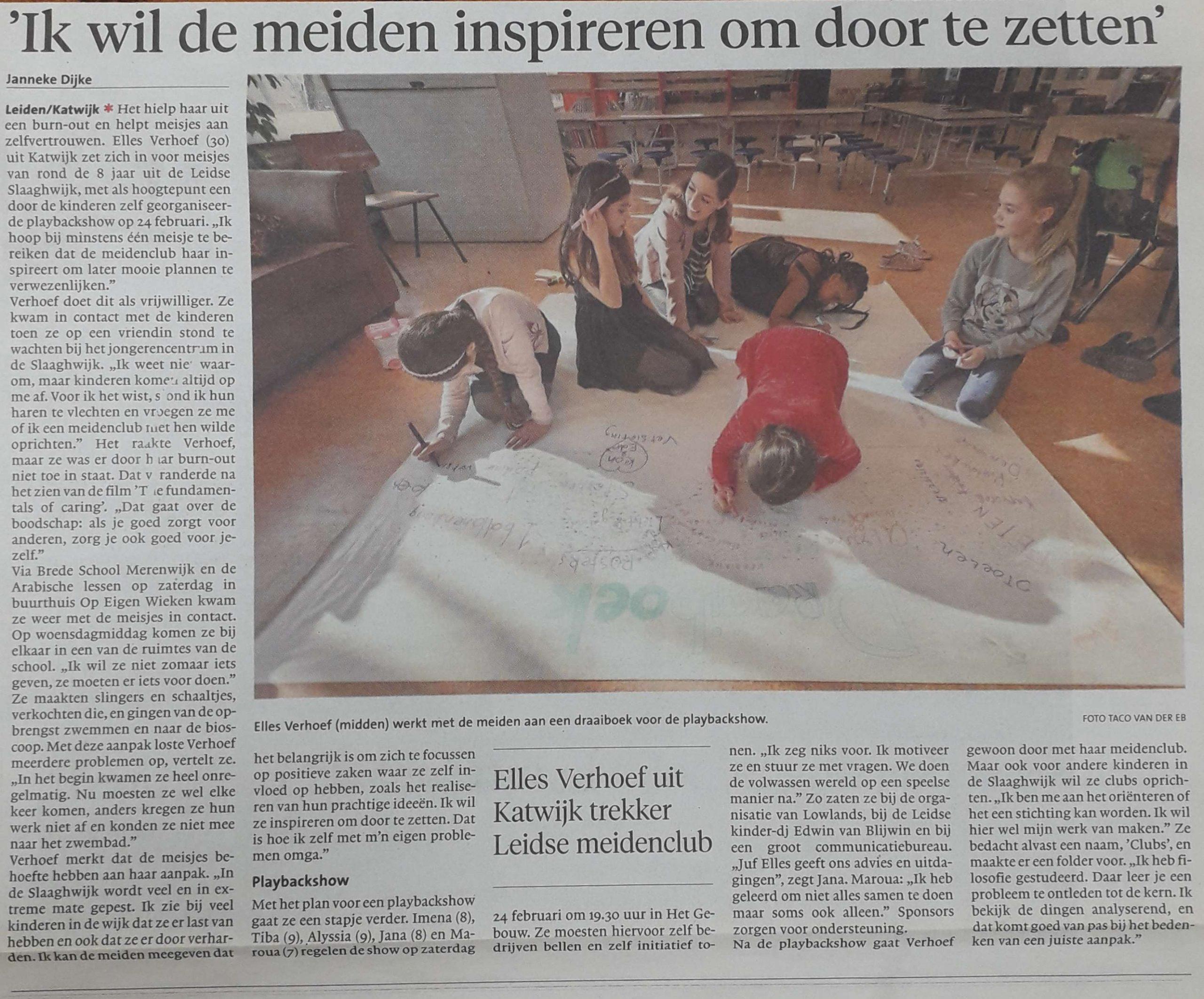 Krant - meiden inspireren